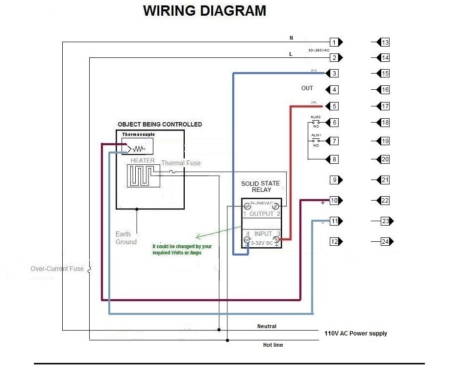 programmable ramp soak dual digital pid temperature controller wiring diagram