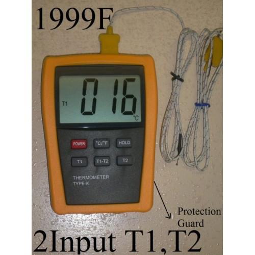 "Type K Thermocouple 4/"" Sensor Kiln Digital Thermometer"