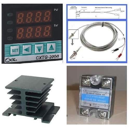 Max.40A SSR D4G6 K Thermocouple Digital LCD PID Temperature Controller Set