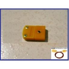 5 x Male Mini Flat Pin K-Type Thermocouple Wire Connector Miniature Probe Sensor