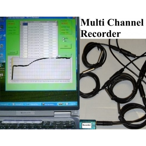 4 Channel Temperature Chart Recorder Data Logger For